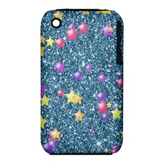 Stars On Sparkling Glitter Print, Blue Iphone 3s/3gs by MoreColorsinLife