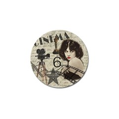 Vintage Cinema Golf Ball Marker by Valentinaart