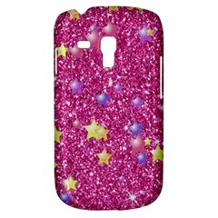 Stars On Sparkling Glitter Print,pink Galaxy S3 Mini by MoreColorsinLife