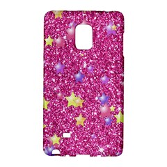 Stars On Sparkling Glitter Print,pink Galaxy Note Edge by MoreColorsinLife