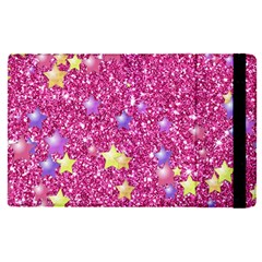 Stars On Sparkling Glitter Print,pink Apple Ipad Pro 12 9   Flip Case by MoreColorsinLife