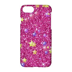 Stars On Sparkling Glitter Print,pink Apple Iphone 8 Hardshell Case by MoreColorsinLife