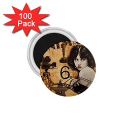 Vintage Cinema 1 75  Magnets (100 Pack)  by Valentinaart