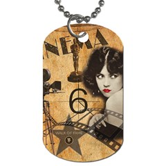 Vintage Cinema Dog Tag (two Sides) by Valentinaart