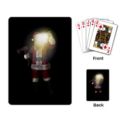 Santa Killer Playing Card by Valentinaart