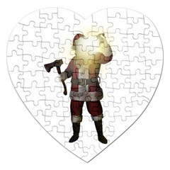 Santa Killer Jigsaw Puzzle (heart) by Valentinaart