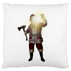 Santa Killer Large Flano Cushion Case (one Side) by Valentinaart