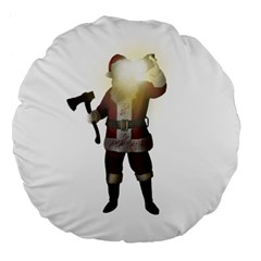 Santa Killer Large 18  Premium Flano Round Cushions by Valentinaart