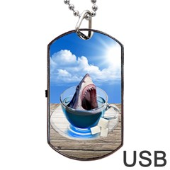 Cup Of Tea Dog Tag Usb Flash (one Side) by Valentinaart