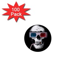 Cinema Skull 1  Mini Magnets (100 Pack)