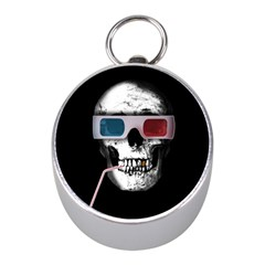 Cinema Skull Mini Silver Compasses