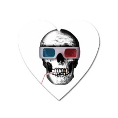 Cinema Skull Heart Magnet by Valentinaart