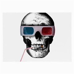 Cinema Skull Large Glasses Cloth (2 Side) by Valentinaart