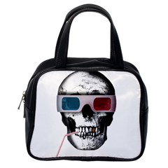 Cinema Skull Classic Handbags (one Side) by Valentinaart