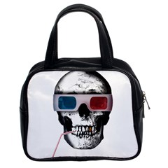 Cinema Skull Classic Handbags (2 Sides) by Valentinaart