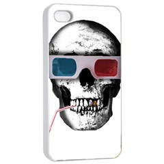 Cinema Skull Apple Iphone 4/4s Seamless Case (white) by Valentinaart