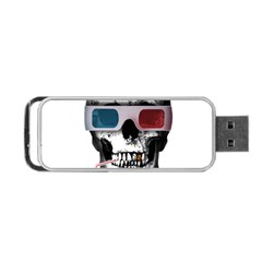 Cinema Skull Portable Usb Flash (two Sides) by Valentinaart