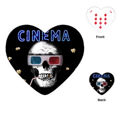 Cinema Skull Playing Cards (heart)  by Valentinaart