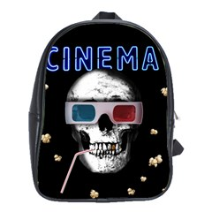 Cinema Skull School Bag (xl)