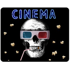 Cinema Skull Double Sided Fleece Blanket (medium)