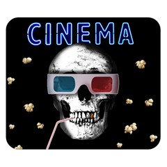 Cinema Skull Double Sided Flano Blanket (small)  by Valentinaart