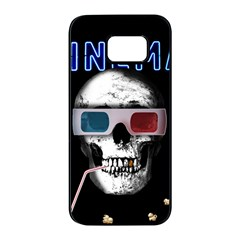 Cinema Skull Samsung Galaxy S7 Edge Black Seamless Case