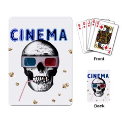 Cinema Skull Playing Card by Valentinaart