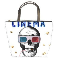 Cinema Skull Bucket Bags by Valentinaart