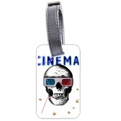 Cinema Skull Luggage Tags (two Sides)