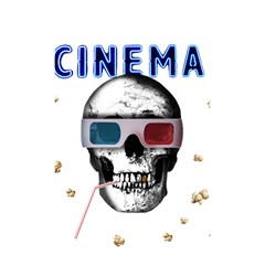 Cinema Skull Shower Curtain 48  X 72  (small)  by Valentinaart
