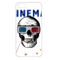 Cinema Skull Apple Iphone 5 Seamless Case (white) by Valentinaart