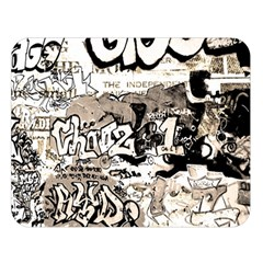 Graffiti Double Sided Flano Blanket (large)  by Valentinaart