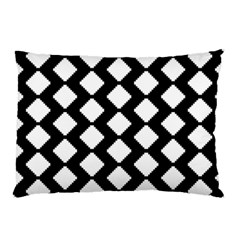 Abstract Tile Pattern Black White Triangle Plaid Pillow Case