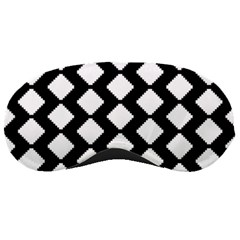 Abstract Tile Pattern Black White Triangle Plaid Sleeping Masks