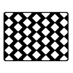 Abstract Tile Pattern Black White Triangle Plaid Fleece Blanket (small)