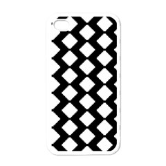 Abstract Tile Pattern Black White Triangle Plaid Apple Iphone 4 Case (white) by Alisyart