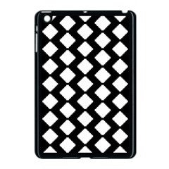 Abstract Tile Pattern Black White Triangle Plaid Apple Ipad Mini Case (black) by Alisyart