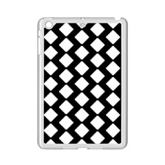 Abstract Tile Pattern Black White Triangle Plaid Ipad Mini 2 Enamel Coated Cases