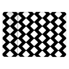 Abstract Tile Pattern Black White Triangle Plaid Samsung Galaxy Tab 10 1  P7500 Flip Case