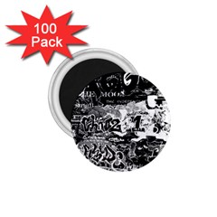 Graffiti 1 75  Magnets (100 Pack)  by Valentinaart
