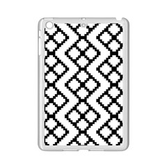 Abstract Tile Pattern Black White Triangle Plaid Chevron Ipad Mini 2 Enamel Coated Cases