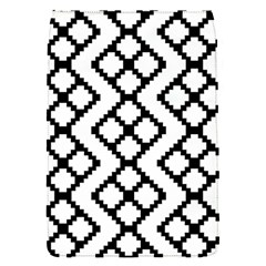 Abstract Tile Pattern Black White Triangle Plaid Chevron Flap Covers (s)  by Alisyart
