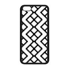 Abstract Tile Pattern Black White Triangle Plaid Chevron Apple Iphone 5c Seamless Case (black) by Alisyart