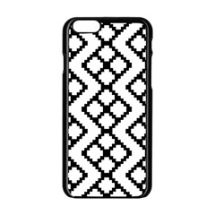 Abstract Tile Pattern Black White Triangle Plaid Chevron Apple Iphone 6/6s Black Enamel Case by Alisyart