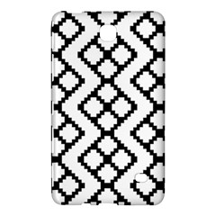 Abstract Tile Pattern Black White Triangle Plaid Chevron Samsung Galaxy Tab 4 (8 ) Hardshell Case  by Alisyart