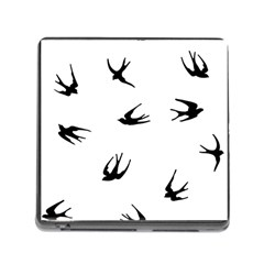 Black Bird Fly Sky Memory Card Reader (square) by Alisyart