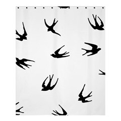 Black Bird Fly Sky Shower Curtain 60  X 72  (medium)  by Alisyart