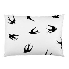 Black Bird Fly Sky Pillow Case (two Sides) by Alisyart