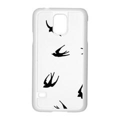 Black Bird Fly Sky Samsung Galaxy S5 Case (white)