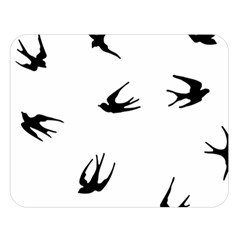 Black Bird Fly Sky Double Sided Flano Blanket (large)